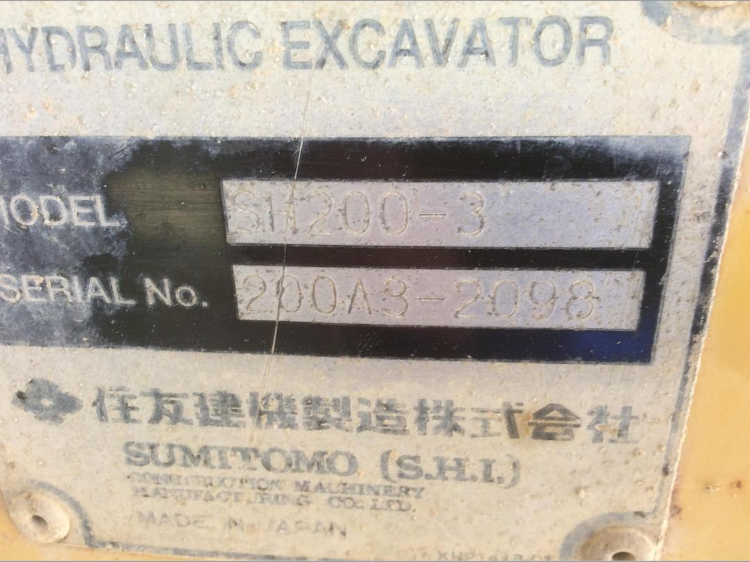 Photo '23' of Sumitomo SH200-3 Excavator